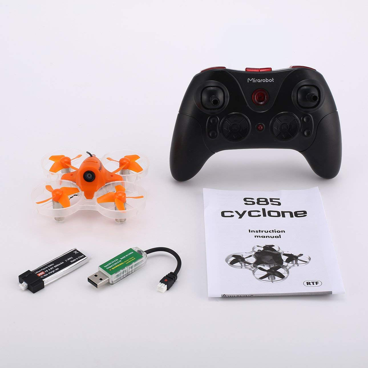 Liobaba Mirarobot S85 5.8G Mini Micro High Speed RC FPV Racing Quadcopter Drone Aircraft 5mW 600TVL Camera 3/6 axis Real-Time Orange