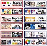 School Specialty 411993 Art Display Cards, Elements and Principles of Design (Pack of 14)