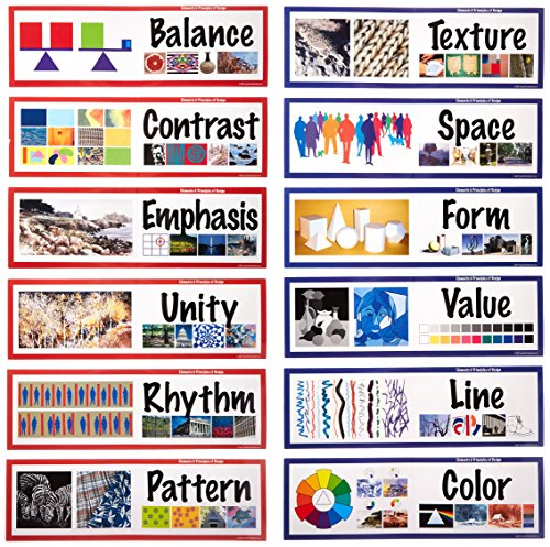 School Specialty 411993 Art Display Cards, Elements and Principles of Design (Pack of 14) by School Specialty