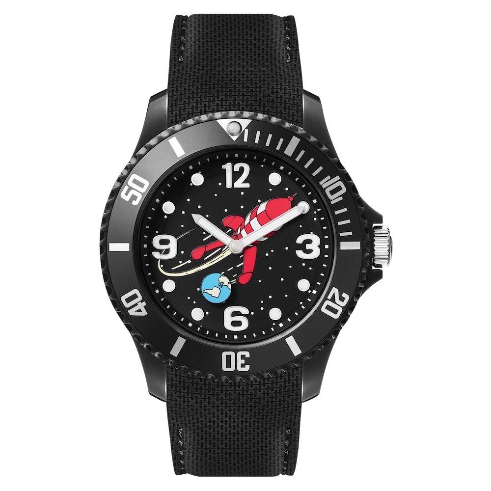 Moulinsart Silicone schwarz schwarz schwarz Watch Ice-Watch Tintin Sport Moon L 82437 (2018) b33487