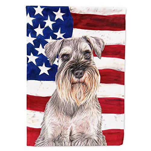 - Caroline's Treasures KJ1158GF USA American Flag with Schnauzer Flag, Small, Multicolor