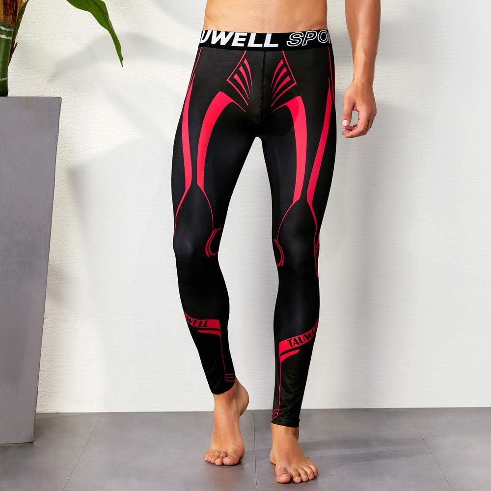 Cinhent Men Pants Sport Standard Daily Fitness Leggings Tights Full Length Slim