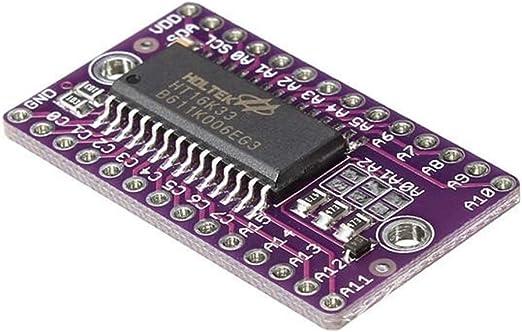 HT16K33 LED Dot Matrix Drive Control Module Steady for Arduino 4.5V~5.5V 16*8