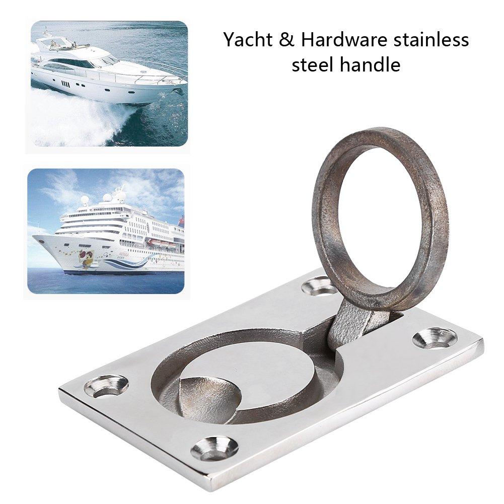 Acciaio inossidabile Maniglia ad anello Tirare il gancio di sollevamento dellarmadio del portellone per Barca Marino Yacht Hardware