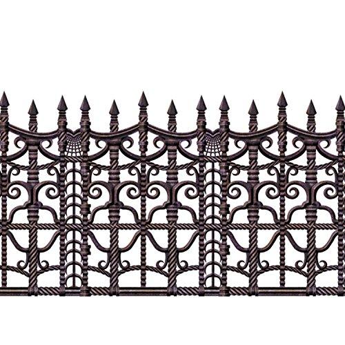 Unbranded Creepy Fence Halloween Horror Party Scene Setter Room Roll Border Decoration