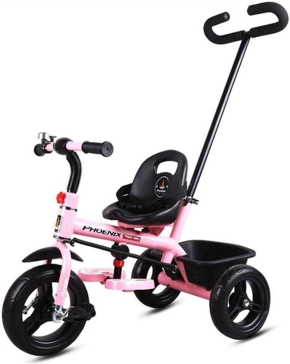 Archivadores Bicicletas Caballo triciclos Infantiles for niños pequeños 4-en-1 de Empuje y Paseo Cochecito de bebé al Aire Libre Triciclo Triciclo de Bicicletas Apto for niños de 1-3-6 años Artículos