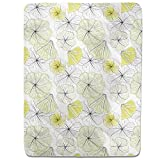 Hibiscus Blossoms Fitted Sheet: King Luxury Microfiber, Soft, Breathable