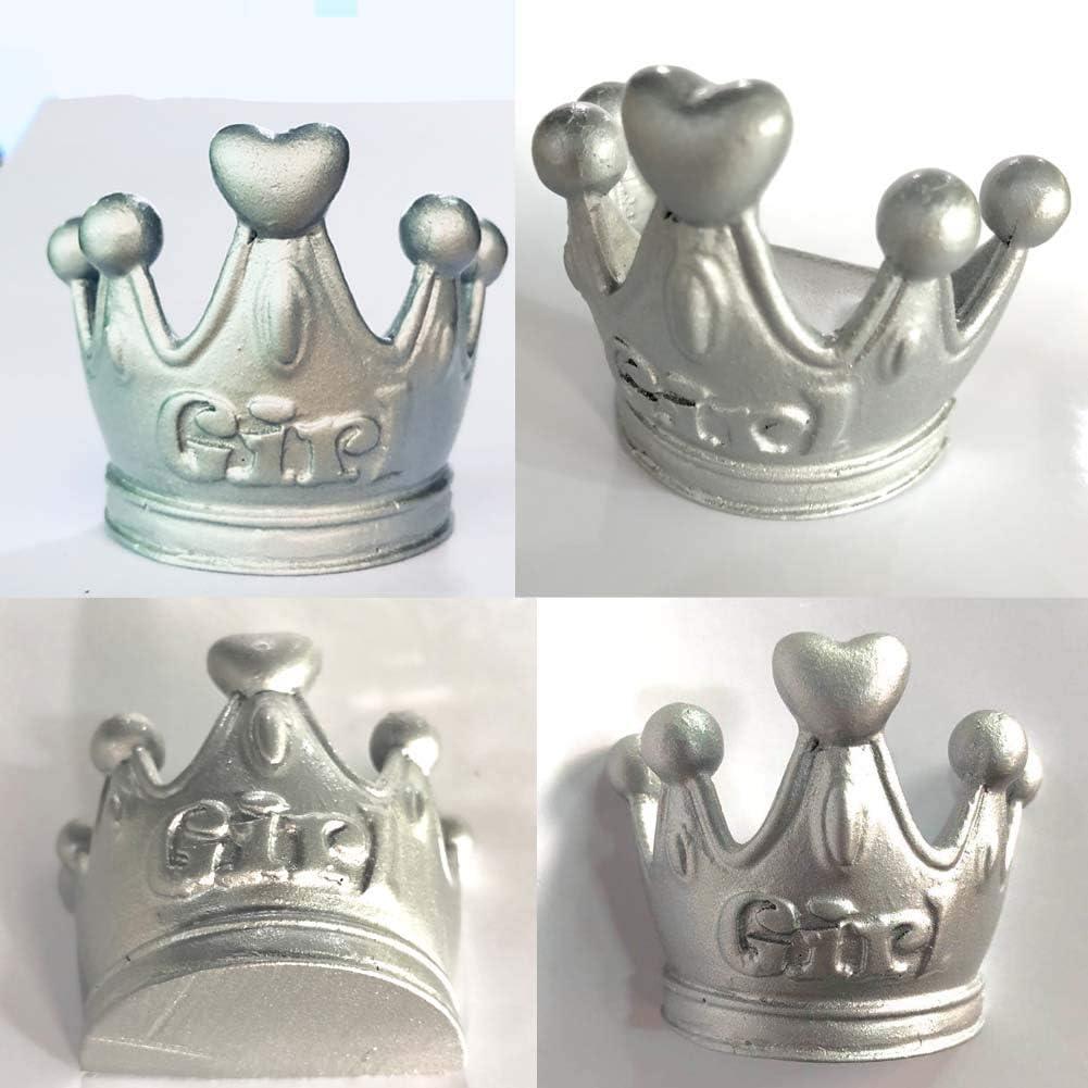 LARGE SILVER Crown  Tiara  Drawer Door Pull Knob Animal Handle Kitchen Cupboard Home