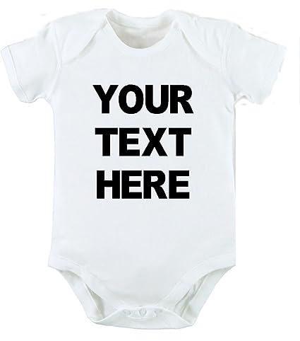 Tu texto aquí personalizado Body y gorro para bebé recién nacido ...