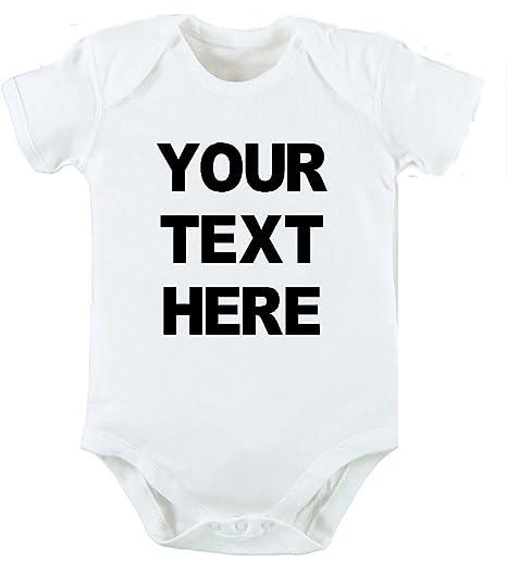 bd441147a Tu texto aquí personalizado Body y gorro para bebé recién nacido Cute Funny  Baby regalo de
