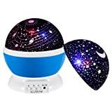 Baby Star Light Projector,SCOPOW 360 Degree Rotating 3 Mode Romantic Star Night Projector For Kids Children Bedroom