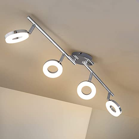 Briloner Leuchten - Lámpara LED de techo, lámpara de techo ...