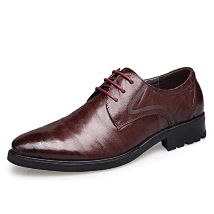 b0ece20e177a Amazon.com: Hy Men's Formal Shoes, Leather Fall/Winter Business ...