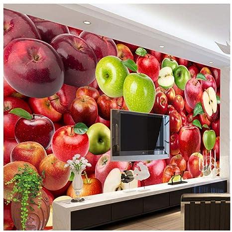 Amazon.com: xbwy 3D Wallpaper Fresh Fruit Apple Backdrop ...