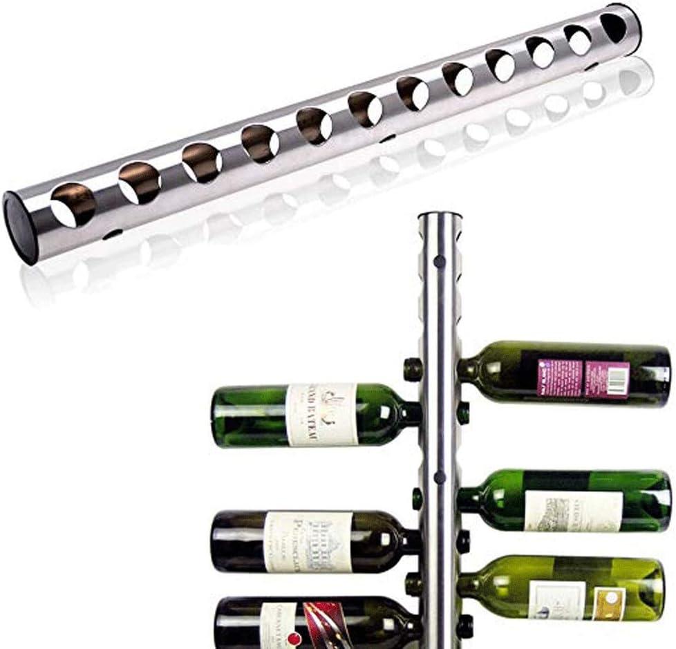 ワインラック・ホルダー 6 + 6ボトルワインホルダー現代ボトルラックデザインホーム&キッチンバーパーティー装飾DIYギフト簡易インストール現代の家の壁の装飾シルバースタイル ワインストレージ 家飾り (Color : Metal, Size : 12 Bottles)