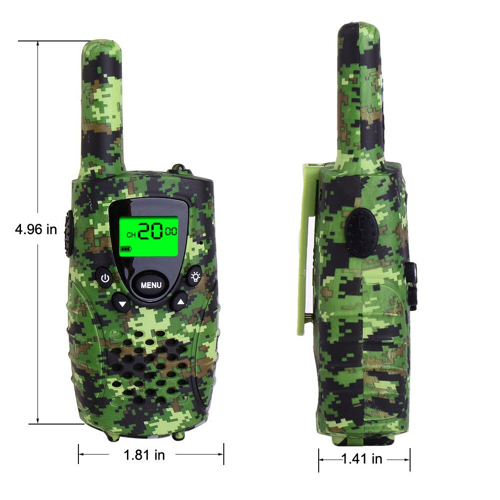 Walkie Talkies for Kids, FAYOGOO 22 Channel Walkie Talkies Two Way Radio 3 Miles (Up to 4 Miles) Long Range Set Mini Walkie Talkies for Kids, Toys for 3 Year Old Up Boys and Girls (Camo Green) by FAYOGOO (Image #5)
