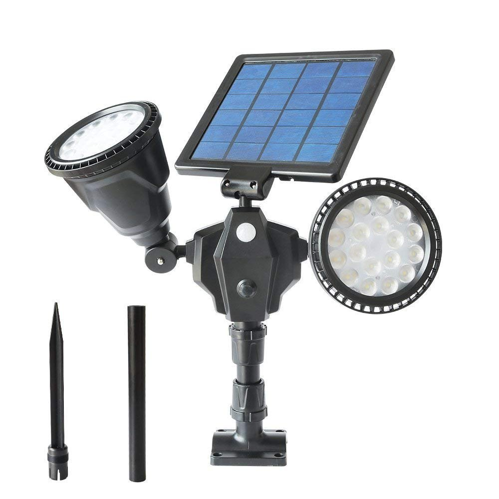 qualità autentica Lampada Solare LED Impermeabile Cortile Giardino Doppio Testa Robot Luce Luce Luce Prato,warmlight,74.5X42cm  conveniente