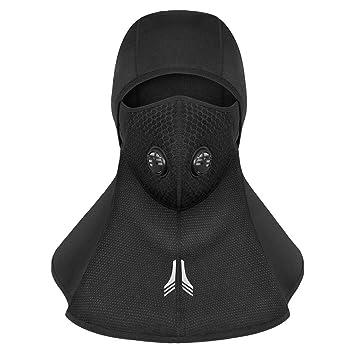 Máscara de esquí pasamontañas de invierno Máscara facial de primera calidad Calentador de cuello de la