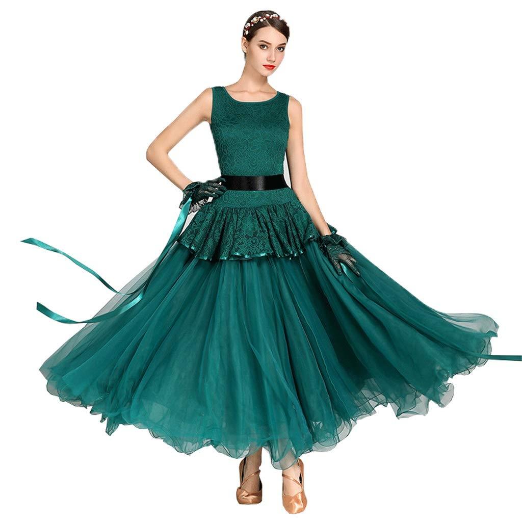 最終決算 モダンダンスワルツノースリーブワンピース女性スリムナショナル社交ダンス大会ロングAラインスイングスカート B07QDNLTNT B07QDNLTNT グリーン M|グリーン グリーン M, ラクスフォート:2e445c94 --- a0267596.xsph.ru