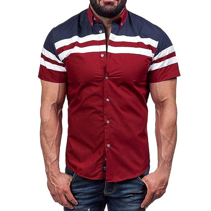 ♚Blusa de Punto de Hombre, Camiseta Casual de Verano con Manga Corta Absolute: Amazon.es: Ropa y accesorios