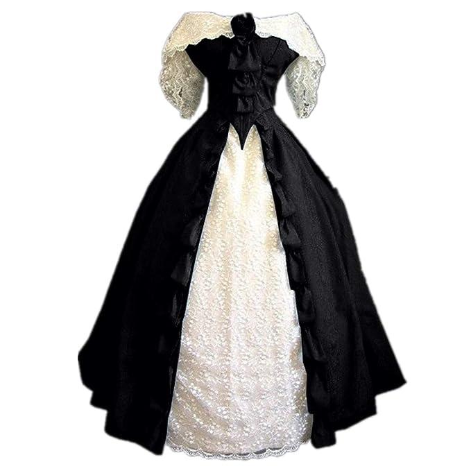 Amazon.com: Vestido de baile de estilo victoriano para mujer ...