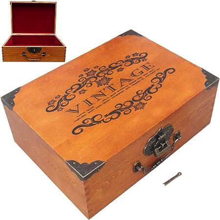 Creation Cajas de Madera para Cajas de Tesoros de Madera para Guardar Tarjetas de joyería, colección, Regalos y decoración del hogar: Amazon.es: Hogar