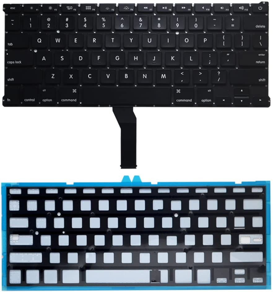 TB/® Replacement Keyboard For MacBook Air 13inch A1369 A1466 2011 2012 2013 2014 2015 2017 US layout with One year Warranty