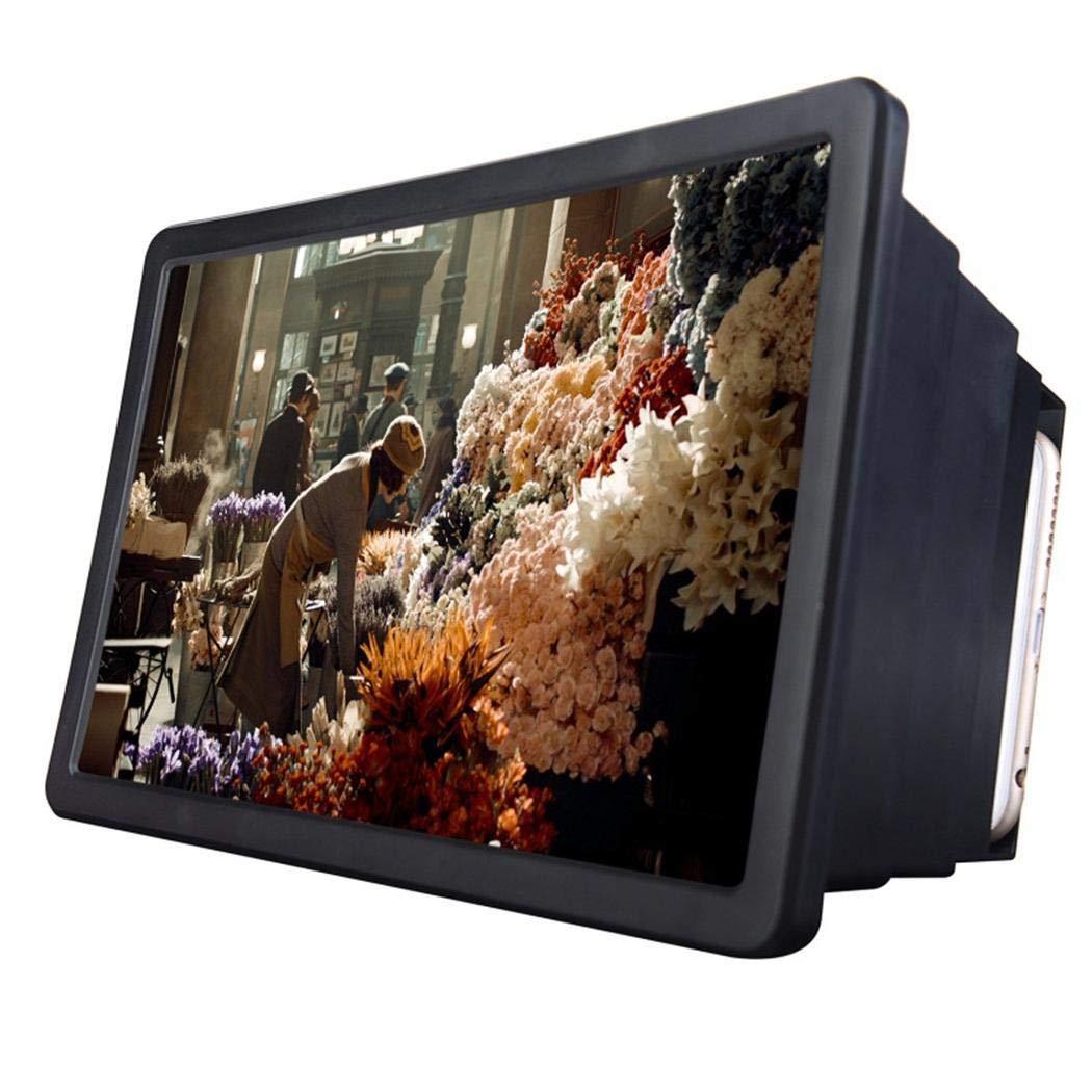 Zimrio Amplificateur de loupe vidéo 3D avec Protection des Yeux et loupe pour téléphone Portable Supports