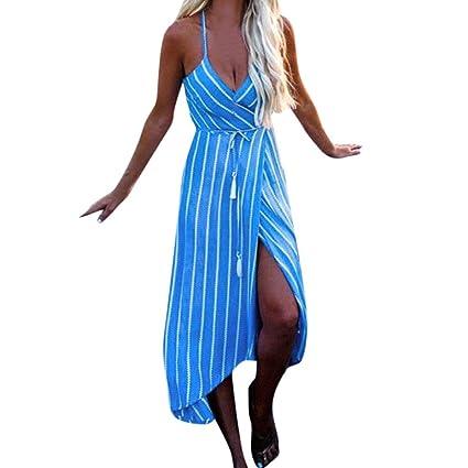 8c293eda7c709 Makaor Vestido de Verano para Mujer