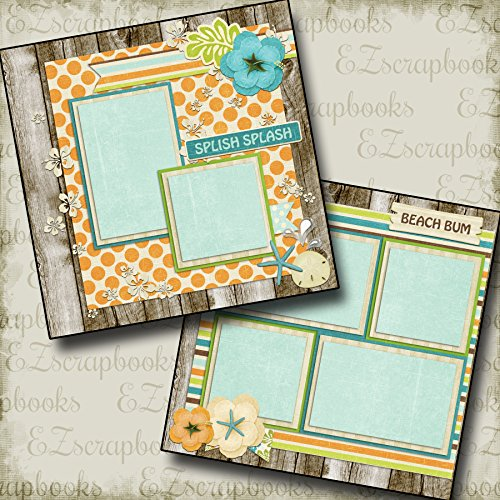 2 12x12 Premade Scrapbook Pages - 5