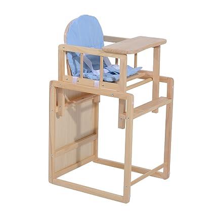 Seggiolone 2 in 1 per bambini da 6 mesi a 3 anni con vassoio e sedia ...