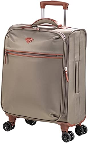Jump Nice Expandable Carry-on Dual Spinner Suitcase Navy