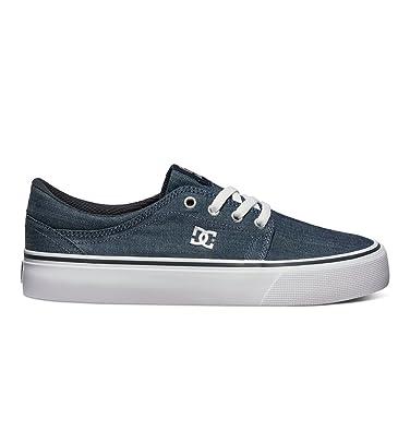 Shoes Womens Dc Shoes Trase Tx Se - Low Shoes - Women - Us 10.5 - Black Dark Denim/White Us 10.5 / Uk 8.5 / Eu 42.5