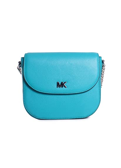 de1a07a0198f ... leather messenger bag f9baf e599e; czech womens accessories michael kors  half dome tile blue crossbody spring summer 2018 a2731 013fe