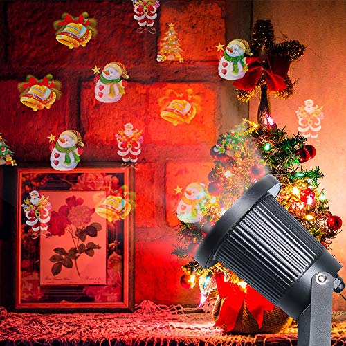 Christmas Changeable Decorative Light, Christmas Landscape Projector Lights for Outdoor Indoor, Holiday and Party Decorations, IP65 Waterproof, 1 Pack