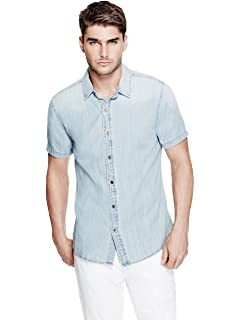 Amazon.com: Guess playera de Melange Check para hombre: Clothing