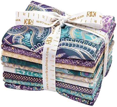 Studio RK Fortissimo Peacock 9 Fat Quarter Bundle Robert Kaufman Fabrics FQ-864-9