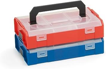 Bosch Sortimo L BOXX Mini - Caja de herramientas (2 unidades) Multicolor, en juego de tapa transparente, ideal caja de almacenaje, caja de clasificación, fiambrera para piezas pequeñas, alternativa: Amazon.es: Bricolaje y