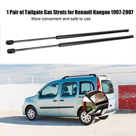 Amortiguador de gas - 1 par de puntales de arranque de la puerta trasera de gas trasera, resorte de soporte para Renault Kangoo 1997-2007.