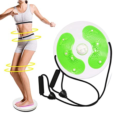 WSERE Twist Waist Twister Disc Board Wriggling Plate Non Slip Body Shaping Twisting Waist Twister Plate Exercise Machine Rotating Balance Board for Legs Waist Foot Ankle Body Training