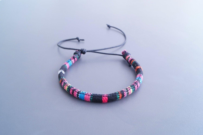 black Bracelets for Women Men Surfer Bracelet Beach Jewelry teen girls surfer summer handmade boho indian Made by Nami