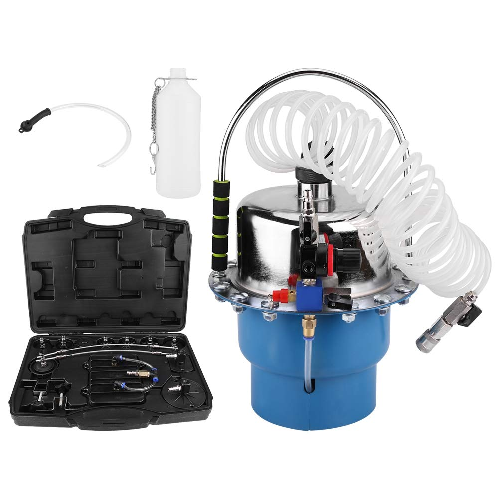 Pneumatic Air Pressure Bleeder Tool Set, Portable Pneumatic Pressure Bleeder Kit Garage Workshop Mechanics Brake Oil and Fluid Extractor Bleeder Tool