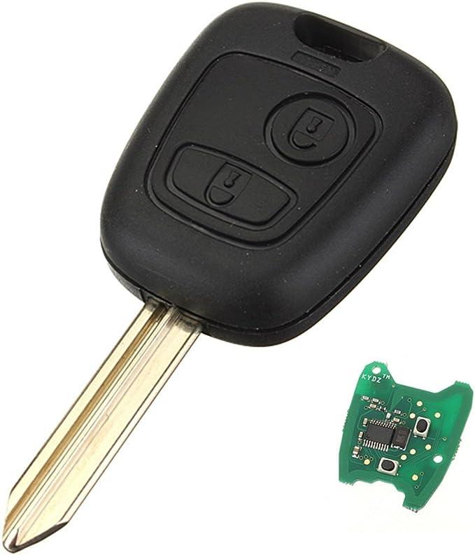 Katur Schlüssel Fernbedienung Für Citroen Saxo Picasso Xsara Berlingo 2 Tasten 433 Mhz Mit Transponder Chip Auto