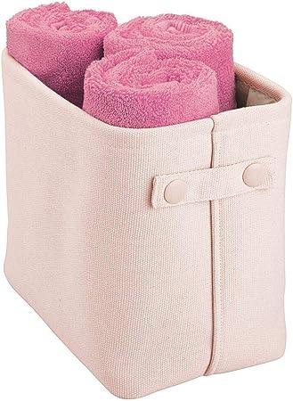 FUNCIONAL: Este suave organizador de tela crea orden en el baño, ya que sirve para guardar todo tipo