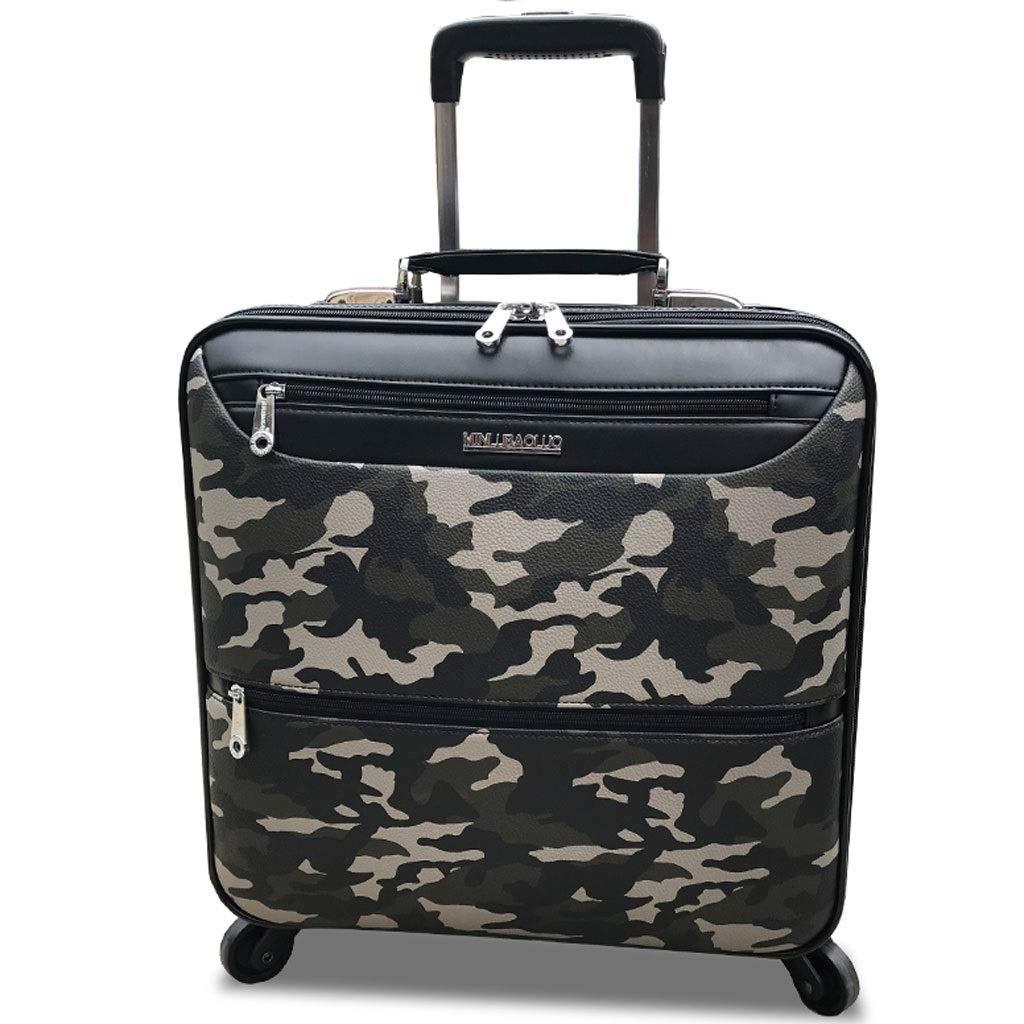 FRF トロリーケース- 学生ファッション迷彩トロリーケースユニバーサルホイールスーツケーススーツケースのうち16インチ、男性と女性 (色 : 迷彩, サイズ さいず : 16in) B07QVXVBP6 迷彩 16in