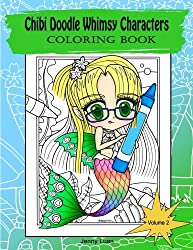Chibi Doodle Whimsy Characters: Coloring book (Volume 2)