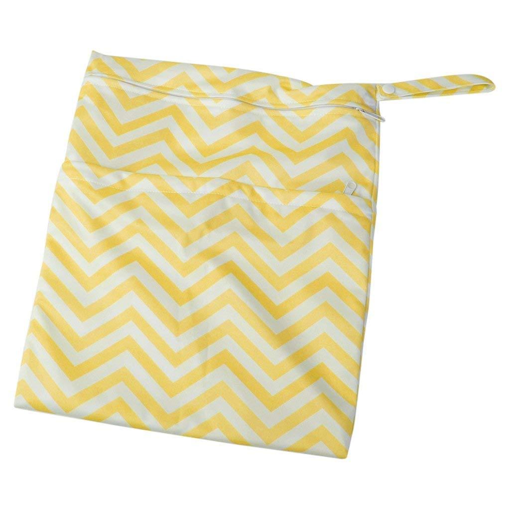 Strand Pool Yoga Kindertagesst/ätte ZYCX123 Stoffwindel Wet Dry Bag Wasserdicht Wiederverwendbare mit Zwei Taschen mit Rei/ßverschluss f/ür Reisen Soiled Baby-Artikel