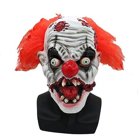 CHESUN Máscara Payaso Scary Halloween Costume Horror Mask ...
