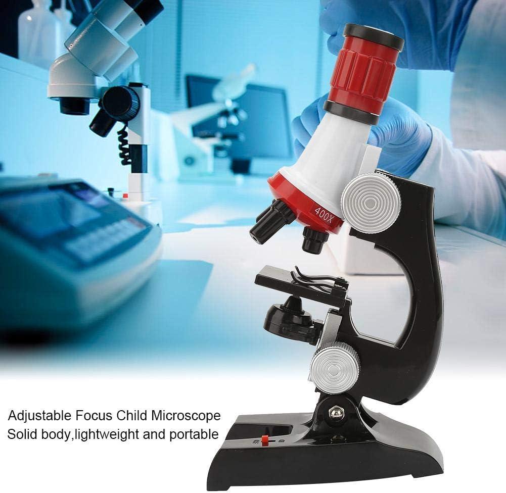 Bewinner Kinder Mikroskop Kinder Anf/ängermikroskop Einstellbarer Fokus Mikroskop mit Probenbox Kinder Biologisches Mikroskop Kit Erziehungswissenschaft Anf/ängermikroskop Spielzeug
