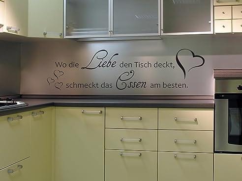 Graz Design 620123_30_010 Wandtattoo Spruch Wo Die Liebe Den Tisch